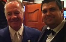 Nicholas Cascio With Tony Sirico aka Paulie Walnuts From The Sopranos.